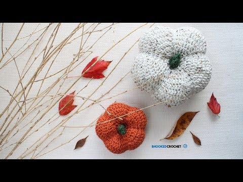 How to Crochet a Pumpkin - Harvest Crochet Pumpkins by Yarnspirations