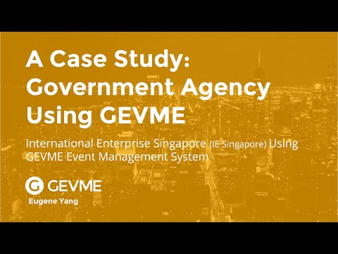 GEVME Case Study: Government Agency Using GEVME Event Management Platform Talk