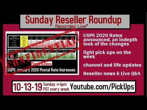 Reseller Roundup 10-13-19 USPS Postal Rate Increase with Charts for 2020 | Reseller News | Q&A