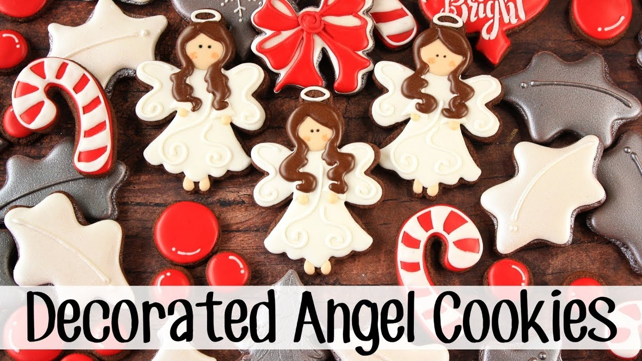 How To Make Decorated Angel Sugar Cookies Youtube