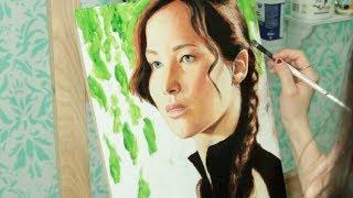 Speed Painting: Katniss Everdeen / Jennifer Lawrence