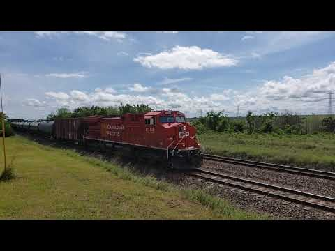 CP 8168 leads a northbound ethanol train @ NSS Mulhall, Oklahoma May 19, 2021