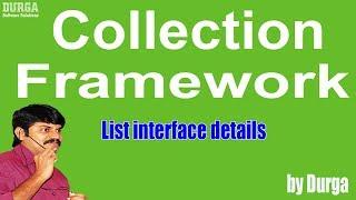 Collection Framework - List interface details