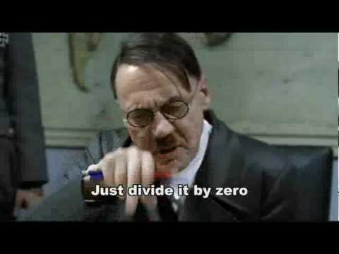Hitler learns he can not divide by zero