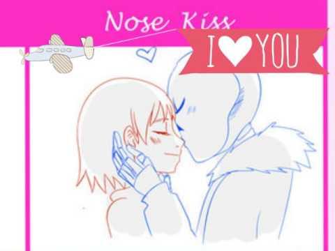 Undertale comic = Sans x Frisk with kiss