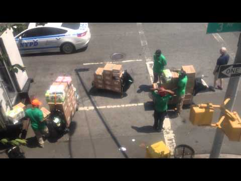 Fresh Direct Trucks at 3rd and 90th