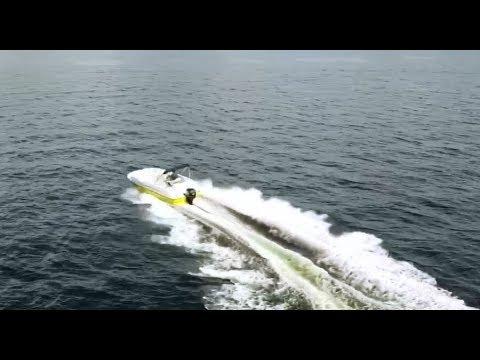19' StarCraft Deck boat water test video