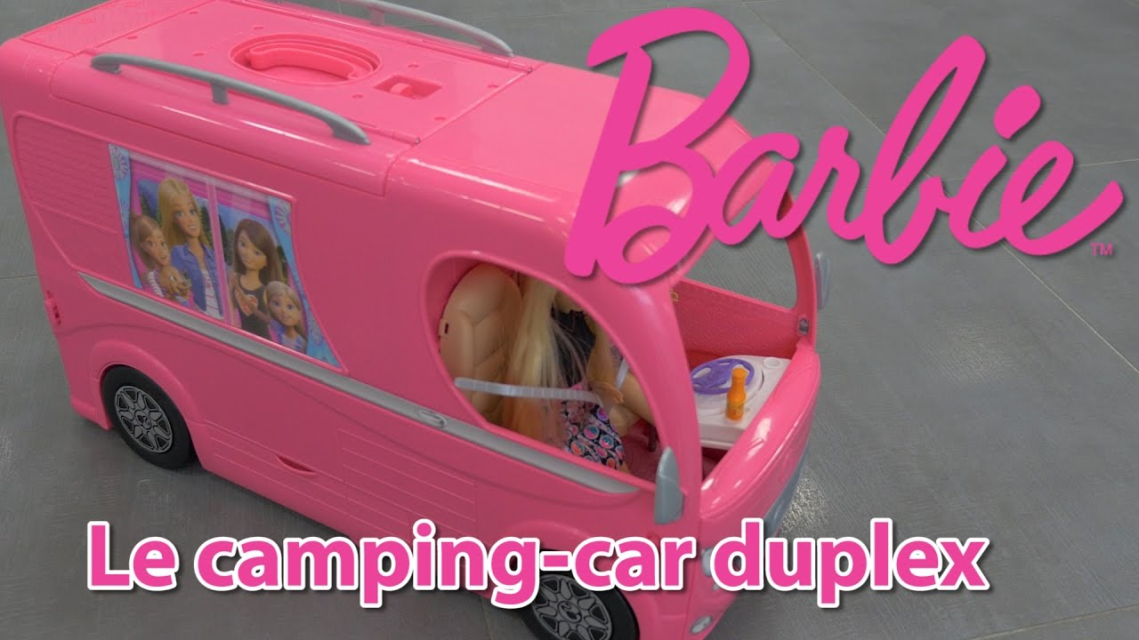 barbie camping car duplex d mo en fran ais youtube. Black Bedroom Furniture Sets. Home Design Ideas