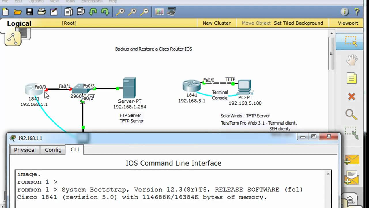 Restore a Cisco router IOS image using Xmodem or TFTP -part2