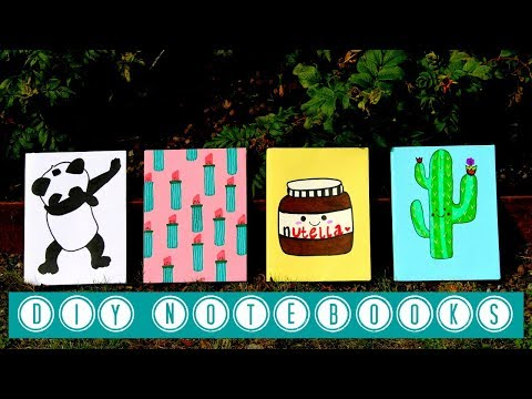 DIY Back to School Notebooks - 4 Easy and Cute Designs !