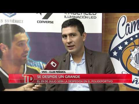 Telediario Noche | Leo Gutiérrez anunció su retiro del básquet con Peñarol en el Polideportivo