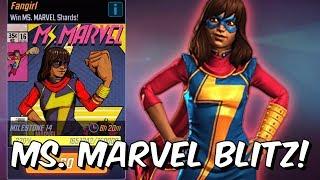 Ms. Marvel (Kamala Khan) Blitz Grinding - MSF & Chill /w Seatin - Marvel Strike Force