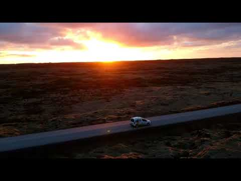 Iceland Road Trip - Sunset in Iceland by DJI Spark