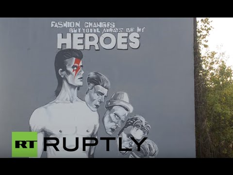 Bosnia and Herzegovina: Huge David Bowie mural unveiled in Sarajevo