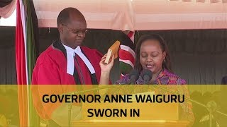 Governor Anne Waiguru sworn in