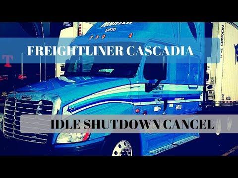 Idle shutdown override for Freightliner Cascadia.