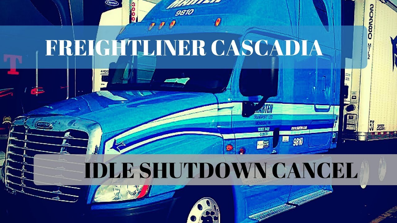 Idle shutdown override for Freightliner Cascadia
