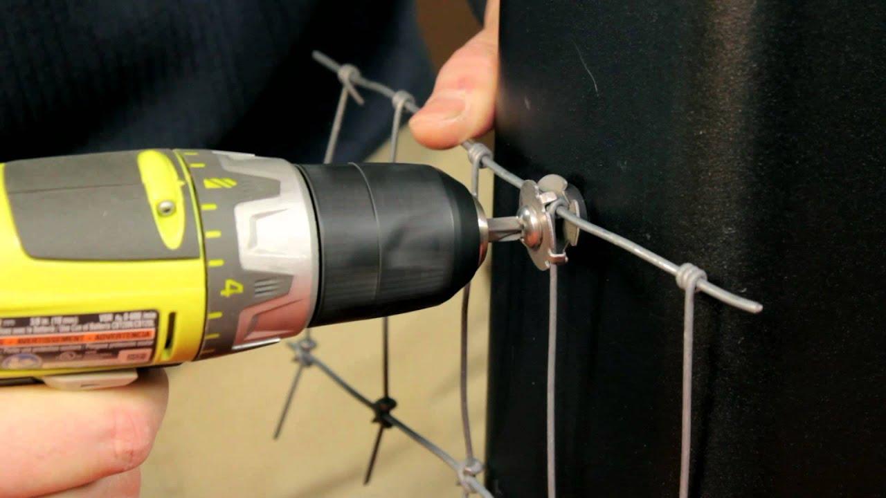 Wire Mesh Clip Amp Hot Wire Clip Installation Youtube