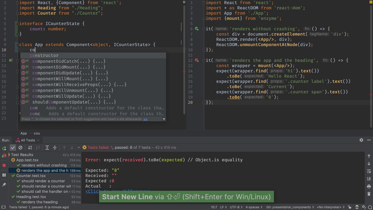 Presentation and Container Components - PyCharm Guide