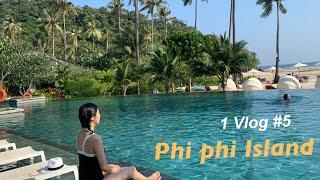 1월 Vlog 5 | 피피섬 리조트에서 하루/ phip…