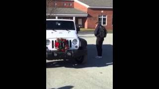 Girl gets her first car! Christmas Present! Brand new Jeep!