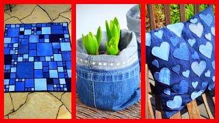 18 Ideias com Jeans para Decorar