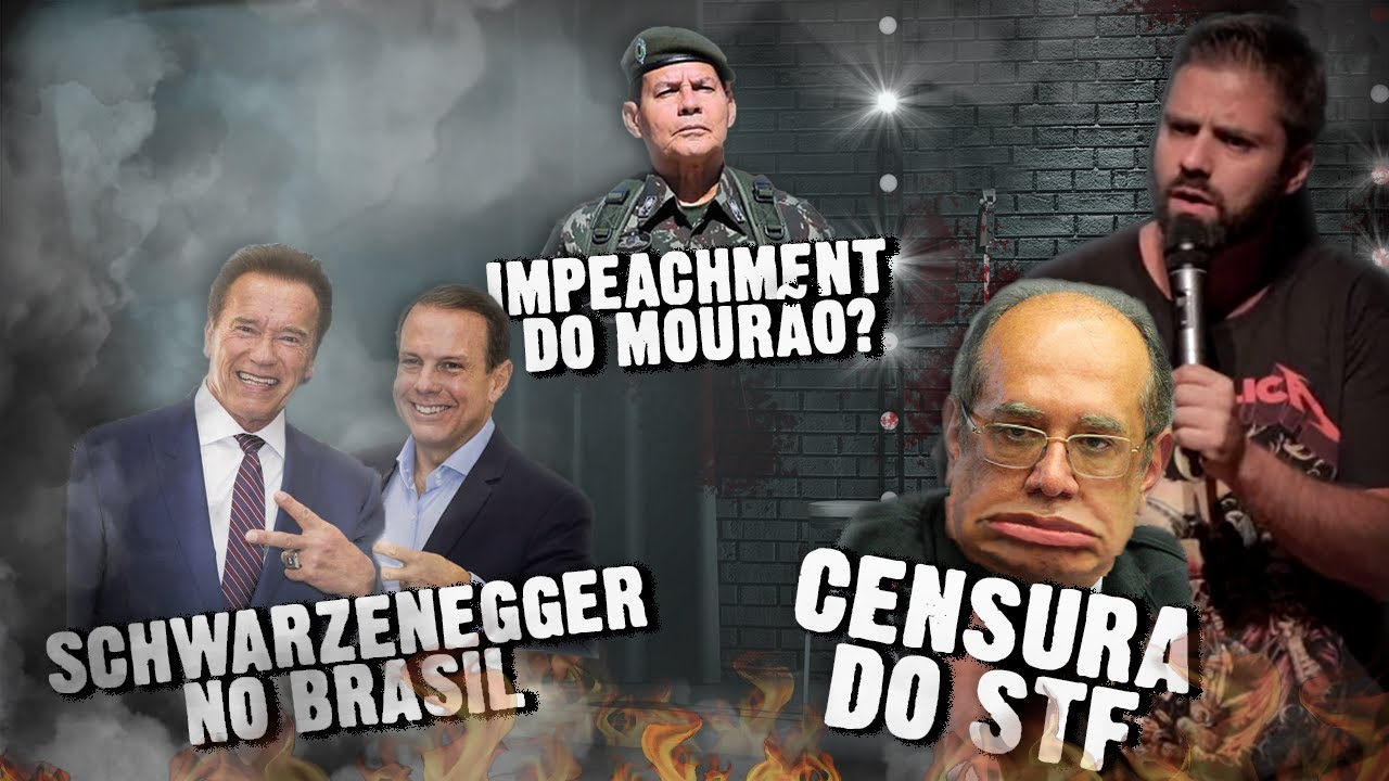 Fábio Rabin - CENSURA do STF /  Danilo Gentili / Schwarzenegger no Brasil / Impeachment do Mourão?