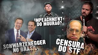 Fábio Rabin - CENSURA do STF /  Danilo Gentili / Schwarzenegger no Brasil / Impeachment do Mourão?