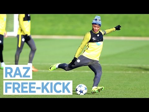 STERLING PERFECT FREE-KICK & DE BRUYNE NUTMEGS! | Man City Training