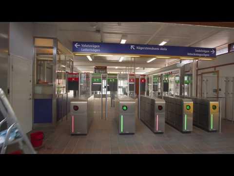 Sweden, Stockholm, subway ride from Telefonplan to Hägerstensåsen