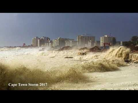 Cape Towns biggest storm Winter 2017 Sea Point