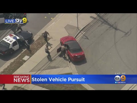 Deputies Rush Driver Leading Car Chase In West Covina