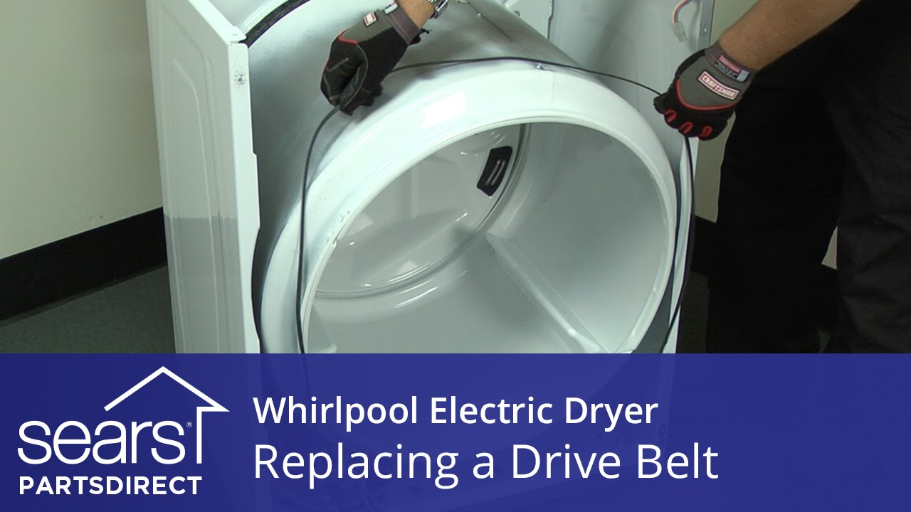 how to replace a whirlpool electric dryer drive belt [ 1280 x 720 Pixel ]
