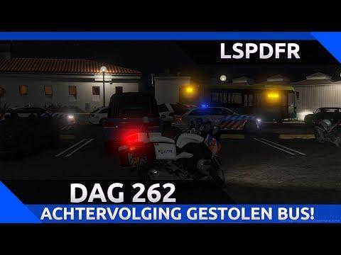 GTA 5 lspdfr dag 262 - Achtervolging gestolen bus! [Motor surveillance]