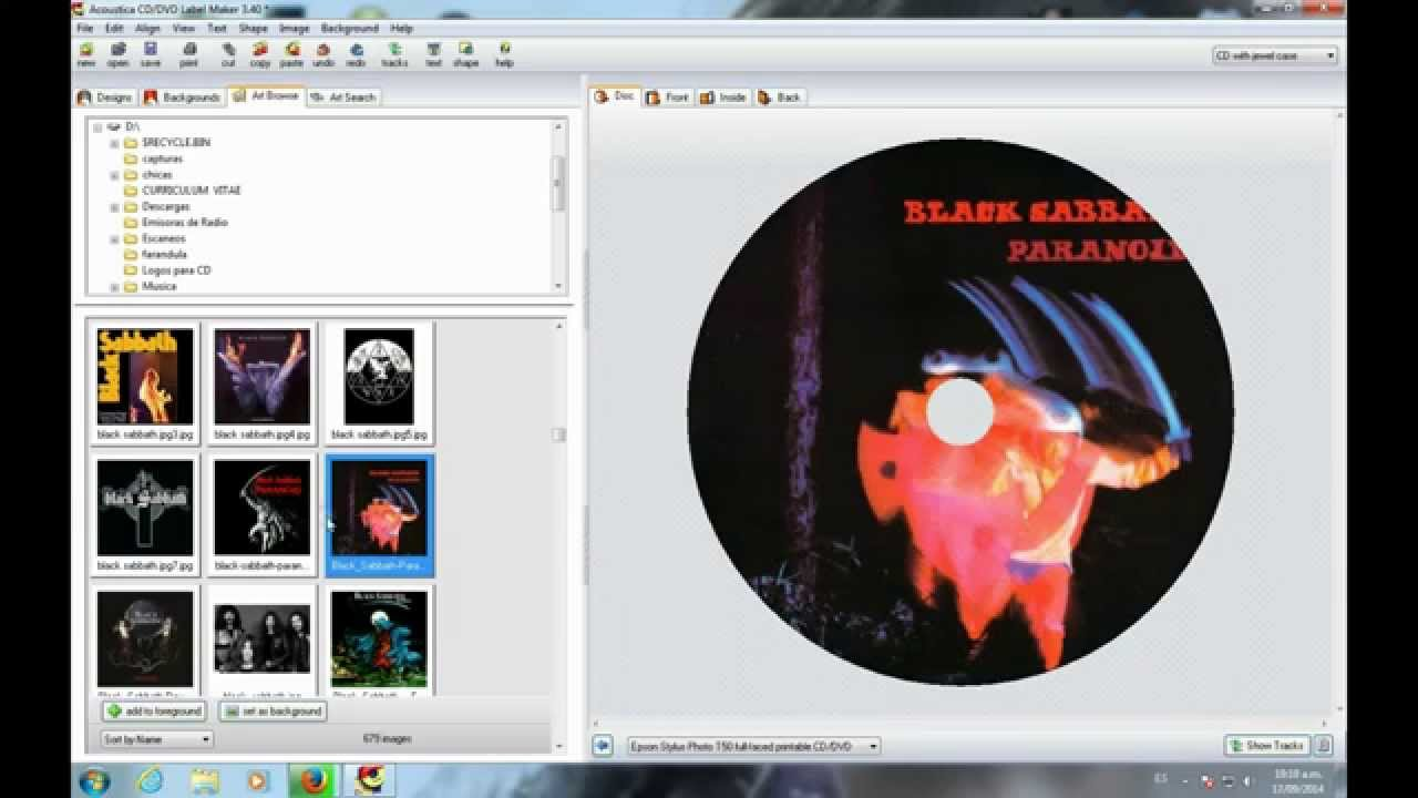 Download acoustica cd/dvd label maker 3. 40 (free) for windows.