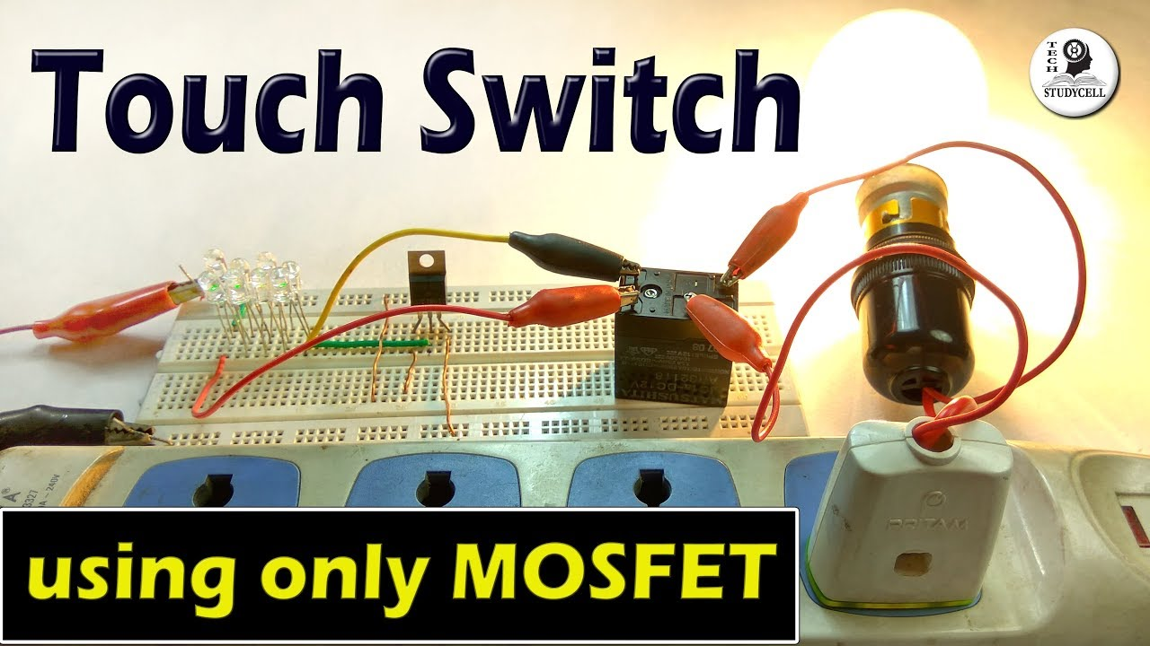 How To Make A Touch Switch Using Mosfet Transistor On Breadboard Tachometer Circuit With Single