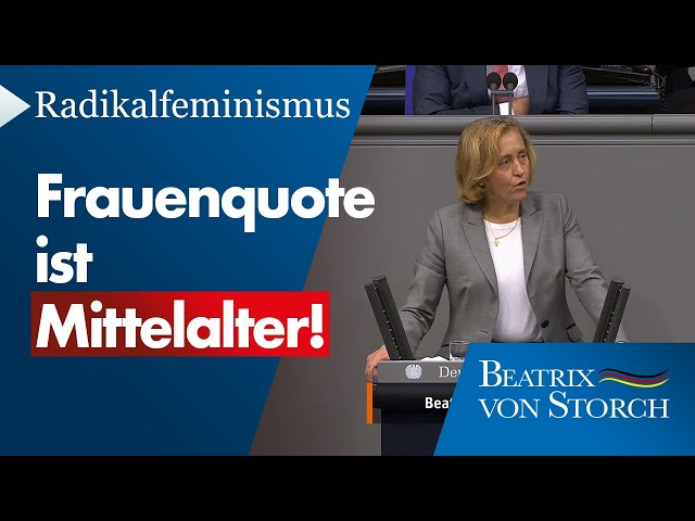 Beatrix von Storch (AfD) - Radikalfeminismus von Linksgrünen und FDP ist rechtswidrig, 09.10.2020