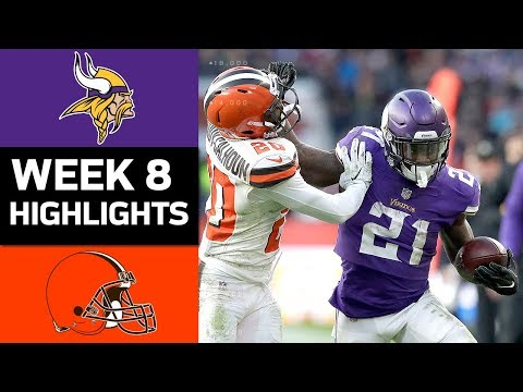 Vikings vs. Browns | NFL Week 8 Game Highlights