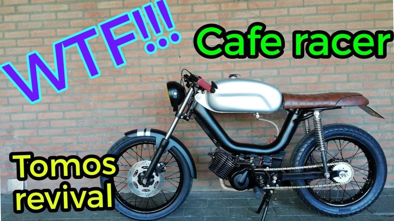 tomos revival cafe racer 50cc youtube. Black Bedroom Furniture Sets. Home Design Ideas