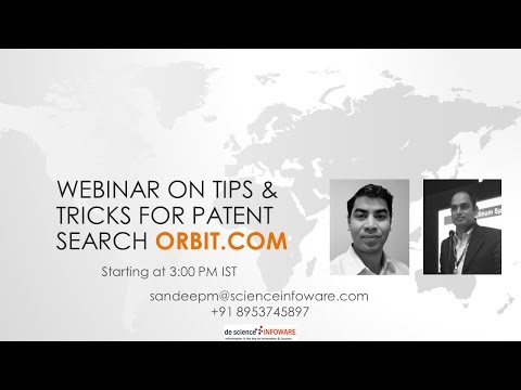 Webinar on Tips & Tricks for Patent Search orbit.com