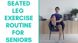 Do you have trouble with standing exercises to strengthen your legs? if so, this exercise video is for you! in video, we go through a seated leg strengt...