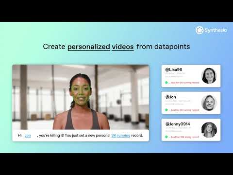Personalized AI video generation
