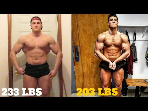 EPIC 12 WEEK TRANSFORMATION | 30 Pounds Lost | Natural Bodybuilding Motivation: This video recaps my 12 week transformation that I just completed, in which I lost 30 pounds.  While I did not get shredded, I hope this transformation shows that a natural bodybuilder can look impressive by internet standards.    All the video clips came from my