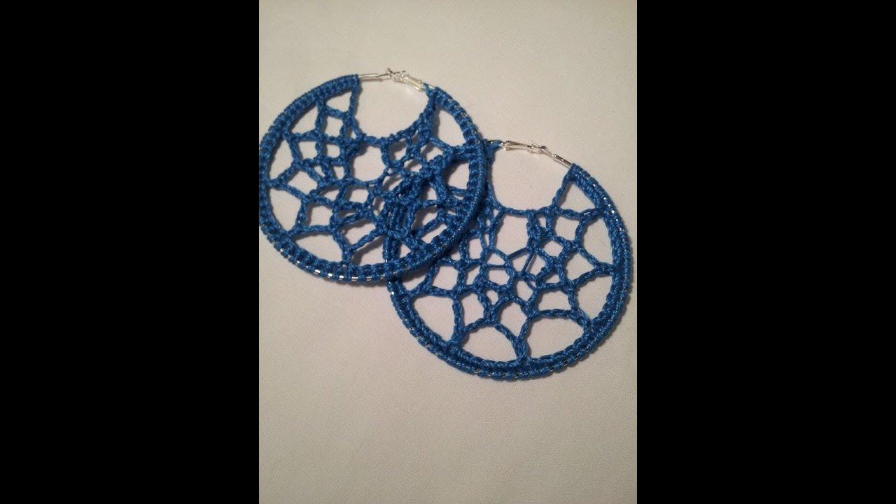 Crochet Tutorial Webbed Earrings Youtube