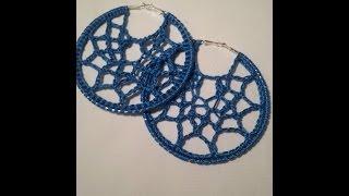 Crochet Tutorial Webbed Earrings
