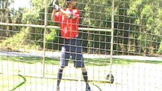 batting practise August/2008