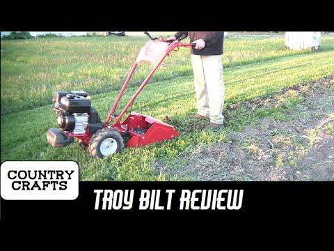 Troy Bilt Bronco Axis 208cc Tiller Review - YouTube