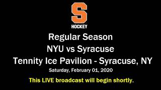 Syracuse Hockey vs NYU 2/1/2020