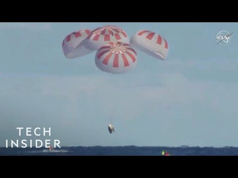 Watch-The-SpaceX-Crew-Dragon-Capsule-Land-Back-On-Earth-For-The-First-Time