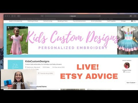 LIVE! GIVING ETSY SHOP ADVICE, TIPS & TRICKS, EMBROIDERY BUSINESSES
